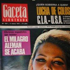 Collectionnisme de Magazine Gaceta Ilustrada: GACETA ILUSTRADA 5-3-67/ PEMAN - CIA - PETER SELLERS CLAUDIA CARDINALE VOLKSWAGEN ESCARABAJO. Lote 22467285