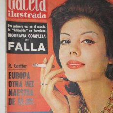 Collectionnisme de Magazine Gaceta Ilustrada: GACETA ILUSTRADA 1961 FALLA ONASSIS NORMA GLADYS CALLAS FALANGE MENEGHIN FELLINI JOSE ANTONIO. Lote 22467269