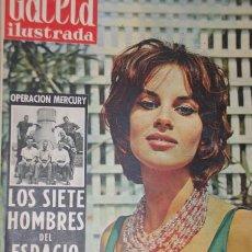 Coleccionismo de Revista Gaceta Ilustrada: GACETA ILUSTRADA 1959 ANTONELLA LUALDI DOMINGUIN DAWN SHA SORAYA ANTONELLA LUALDI GUERRA. Lote 21429511