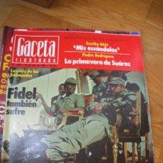 Coleccionismo de Revista Gaceta Ilustrada: GACETA ILUSTRADA 20 ABRIL 80 FIDEL CASTRO. Lote 26721029