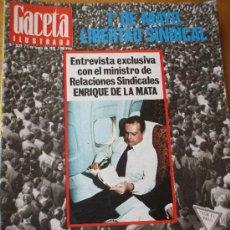 Coleccionismo de Revista Gaceta Ilustrada: GACETA ILUSTRADA . 1 MAYO 77 LIBERTAD SINDICAL. Lote 21328254