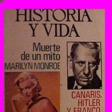 Coleccionismo de Revista Gaceta Ilustrada: REVISTAS HISTORIA Y VIDA MARILYN MONROE. Lote 27396410