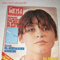 Coleccionismo de Revista Gaceta Ilustrada: REVISTA GACETA ILUSTRADA Nº 1178, DE 6 MAYO 1979. ACCIDENTE AEREO EN SAN DIEGO. Lote 23621997
