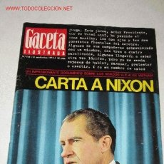 Coleccionismo de Revista Gaceta Ilustrada: REVISTA GACETA ILUSTRADA Nº 735, DE 8 NOVIEMBRE 1970. NIXON Y VIETNAM PORTADA Y PÁGINAS INTERIORES. Lote 23622002