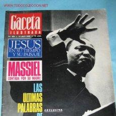 Collectionnisme de Magazine Gaceta Ilustrada: REVISTA GACETA ILUSTRADA Nº 601, DE 14-04-1968. LAS ÚLTIMAS PALABRAS DE MARTÍN LUTERO KING . Lote 23645842