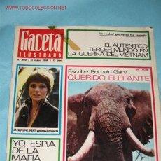 Coleccionismo de Revista Gaceta Ilustrada: REVISTA GACETA ILUSTRADA Nº 604, DE 5-04-1968. JACQUELINE BISSET PORTADA Y PÁGINA INTERIORES.. Lote 23645844