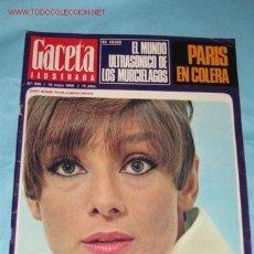 Coleccionismo de Revista Gaceta Ilustrada: REVISTA GACETA ILUSTRADA Nº 606, DE 19-05-1968. AUDREY HEPBURN EN PORTADA Y PÁGINAS INTERIORES . Lote 23645845