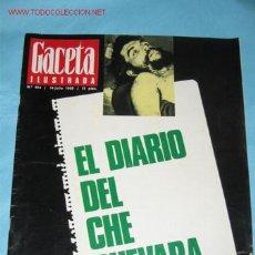 Coleccionismo de Revista Gaceta Ilustrada: REVISTA GACETA ILUSTRADA Nº 614, DE 14-07-1968. EL DIARIO DEL CHE GUEVARA, PORTADA Y PÁGINAS INTERI . Lote 23645851