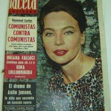 Colecionismo da Revista Gaceta Ilustrada: REVISTA GACETA ILUSTRADA Nº 325 -29 DICIEMBRE 1962-LESLIE CARON. Lote 11772389