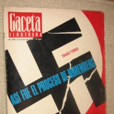 Coleccionismo de Revista Gaceta Ilustrada: GACETA ILUSTRADA Nº 522 DE 8/10/1966. HITLER, NUREMBERG, GERALDINE CHAPLIN, AVIACIÓN 1966. Lote 26255961