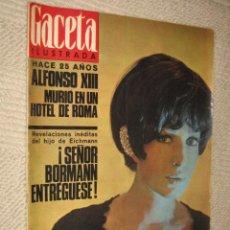 Coleccionismo de Revista Gaceta Ilustrada: GACETA ILUSTRADA Nº 490 DE 26/02/1966. ALFONSO XIII, MONICA VITTI, HITLER, BORMANN, EICHMANN. Lote 26255962