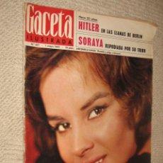 Coleccionismo de Revista Gaceta Ilustrada: GACETA ILUSTRADA Nº 447 DE 1/05/1965. ANTONELLA LUALDI, HITLER, SORAYA, MARISOL EN SEVILLA. Lote 26255963
