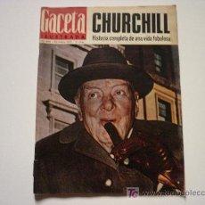 Coleccionismo de Revista Gaceta Ilustrada: GACETA ILUSTRADA 23-1-1965 - CHURCHILL - HISTORIA COMPLETA DE UNA VIDA FABULOSA.. Lote 25179027