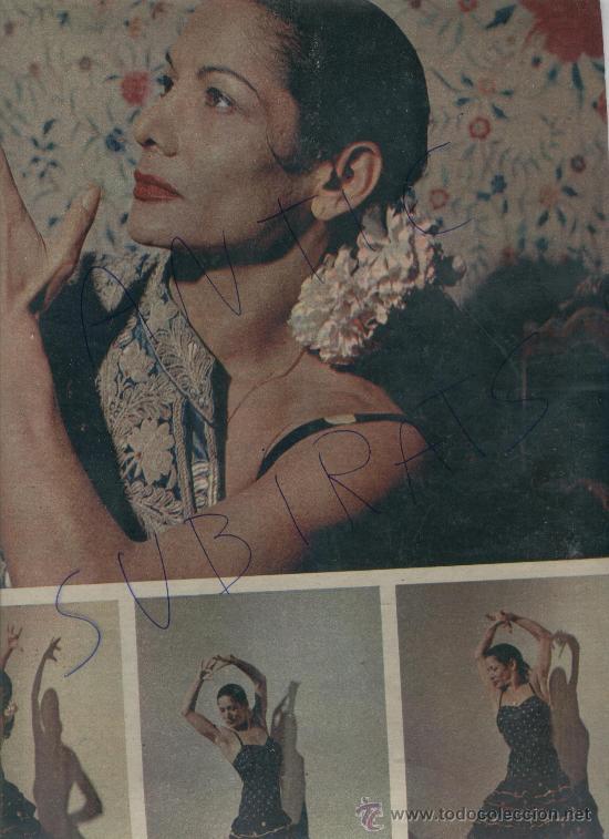 REVISTA 1958 BAILE FLAMENCO CARMEN AMAYA PASTERNAK CURD JURGENS MARIO CABRE BEGUR (Coleccionismo - Revistas y Periódicos Modernos (a partir de 1.940) - Revista Gaceta Ilustrada)