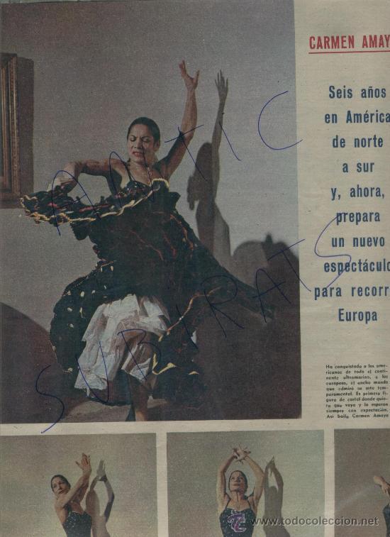 Coleccionismo de Revista Gaceta Ilustrada: REVISTA 1958 BAILE FLAMENCO CARMEN AMAYA PASTERNAK CURD JURGENS MARIO CABRE BEGUR - Foto 2 - 18338355
