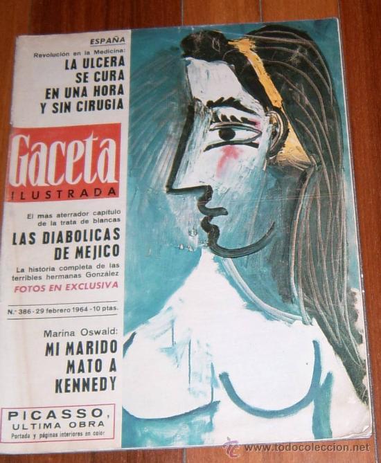 REVISTA GACETA ILUSTRADA 1964 CUADRO PICASSO (Coleccionismo - Revistas y Periódicos Modernos (a partir de 1.940) - Revista Gaceta Ilustrada)