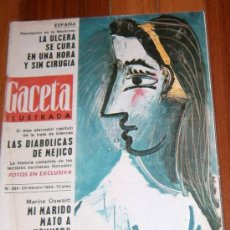 Coleccionismo de Revista Gaceta Ilustrada: REVISTA GACETA ILUSTRADA 29 FEBRERO 1964 CUADRO PICASSO PORTADA E INTERIOR. Lote 23309845