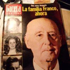 Coleccionismo de Revista Gaceta Ilustrada: GACETA ILUSTRADA. LA FAMILIA FRANCO DOS AÑOS DESPUÉS. 1977. Nº 1102. R-47. Lote 19309417