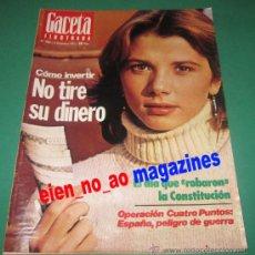 Coleccionismo de Revista Gaceta Ilustrada: GACETA ILUSTRADA 1104/1977 VICTORIA ABRIL~JOSE LUIS BORAU~OLGA MANZANO Y MANUEL PICON~LOLA FLORES. Lote 26842658