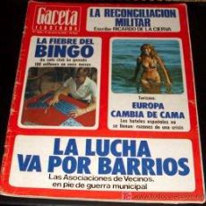 Coleccionismo de Revista Gaceta Ilustrada: GACETA ILUSTRADA - REVISTA - Nº 1029 - 27 JUNIO 1976 . Lote 27299226