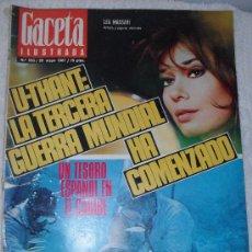 Coleccionismo de Revista Gaceta Ilustrada: GACETA ILUSTRADA Nº 555 28 DE MAYO 1.967, EN PORTADA LEA MASSARI. Lote 26641823