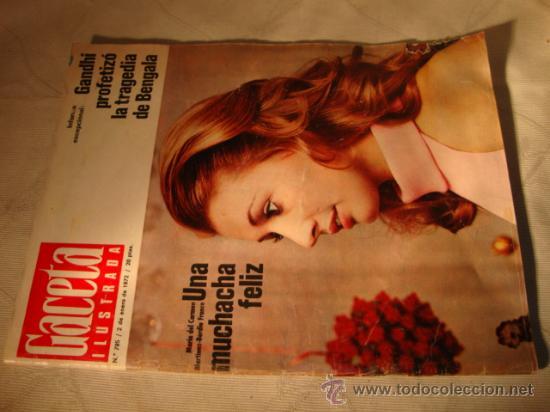 REVISTA GACETA ILUSTRADA Nº AÑO , EN PORTADA (Coleccionismo - Revistas y Periódicos Modernos (a partir de 1.940) - Revista Gaceta Ilustrada)