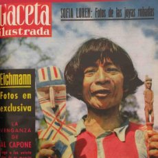 Coleccionismo de Revista Gaceta Ilustrada: REVISTA GACETA ILUSTRADA 1960 EICHMANN BRIGITTE BARDOT SOFIA LOREN. Lote 28880354