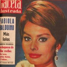Coleccionismo de Revista Gaceta Ilustrada: REVISTA GACETA ILUSTRADA 1960 SOFIA LOREN , SOPHIA LOREN. Lote 28891337
