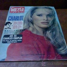 Coleccionismo de Revista Gaceta Ilustrada: REV. / GACETA ILUSTRADA 10/1966 URSULA ANDRESS.-AMPL. REPJE.CHARLOT,MINI-FALDA ENPL.ROJA. Lote 28954548