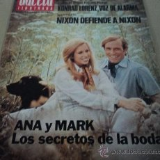 Coleccionismo de Revista Gaceta Ilustrada: ANA Y MARK LOS SECRETOS DE LA BODA EN LA GACETA ILUSTRADA. Lote 29133807