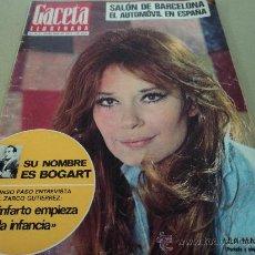 Coleccionismo de Revista Gaceta Ilustrada: LEA MASSARI BOGART SALON AUTOMOVIL 1972 LOS BACALADEROS. Lote 29134127