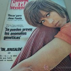 Colecionismo da Revista Gaceta Ilustrada: JANE FONDA EN LA GACETA ILUSTRADA. Lote 29134164