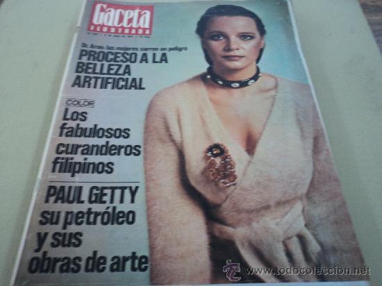 CURANDEROS FILIPINOS Y PAUL GETTY EN LA GACETA ILUSTRADA (Coleccionismo - Revistas y Periódicos Modernos (a partir de 1.940) - Revista Gaceta Ilustrada)