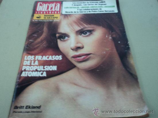 BRITT EKLAND EN LA GACETA ILUSTRADA (Coleccionismo - Revistas y Periódicos Modernos (a partir de 1.940) - Revista Gaceta Ilustrada)