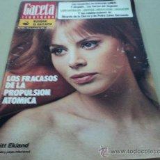 Coleccionismo de Revista Gaceta Ilustrada: BRITT EKLAND EN LA GACETA ILUSTRADA. Lote 29134490