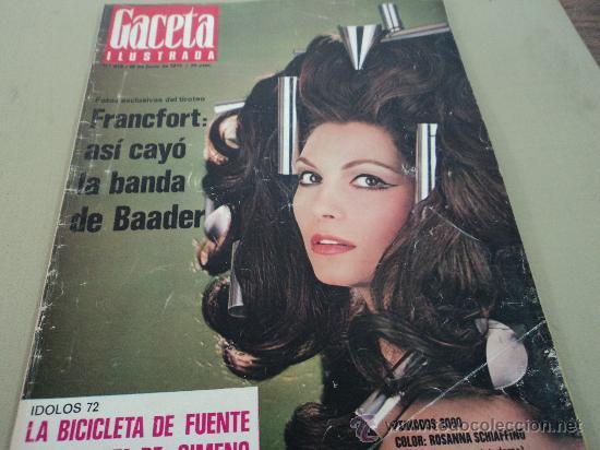 ROSANNA SCHIAFFINO EN LA GACETA ILUSTRADA (Coleccionismo - Revistas y Periódicos Modernos (a partir de 1.940) - Revista Gaceta Ilustrada)