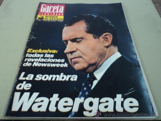CASO WATERGATE LA VIDA A LOS CIEN AÑOS SKYLAB (Coleccionismo - Revistas y Periódicos Modernos (a partir de 1.940) - Revista Gaceta Ilustrada)