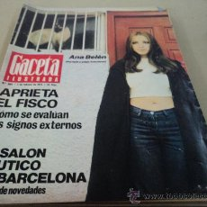 Coleccionismo de Revista Gaceta Ilustrada: ANA BELEN EN LA GACETA ILUSTRADA. Lote 29134924