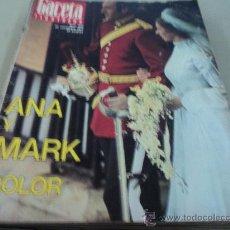 Colecionismo da Revista Gaceta Ilustrada: ANA Y MARK BODA REAL EN LA GACETA ILUSTRADA. Lote 29134938