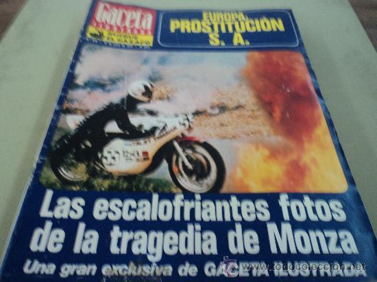 LA TRAGEDIA DE MONZA EN LA GACETA ILUSTRADA (Coleccionismo - Revistas y Periódicos Modernos (a partir de 1.940) - Revista Gaceta Ilustrada)