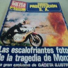 Coleccionismo de Revista Gaceta Ilustrada: LA TRAGEDIA DE MONZA EN LA GACETA ILUSTRADA. Lote 29134950