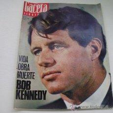 Coleccionismo de Revista Gaceta Ilustrada: REVISTA GACETA ILUSTRADA - AÑO 1.968 - VIDA OBRA MUERTE DE BOB KENNEDY - EL ALCALDE DE BELMEZ. Lote 31337220
