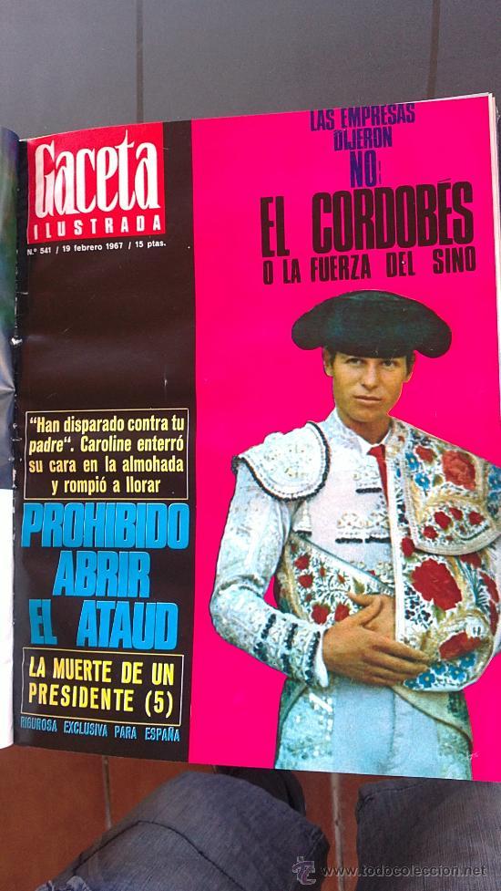 Coleccionismo de Revista Gaceta Ilustrada: &-REVISTA GACETA ILUSTRADA -KENNEDY-(6,NºS, ESPECIALES) - 1967 - LA MUERTE DE UN PRESIDENTE - - Foto 5 - 32209285