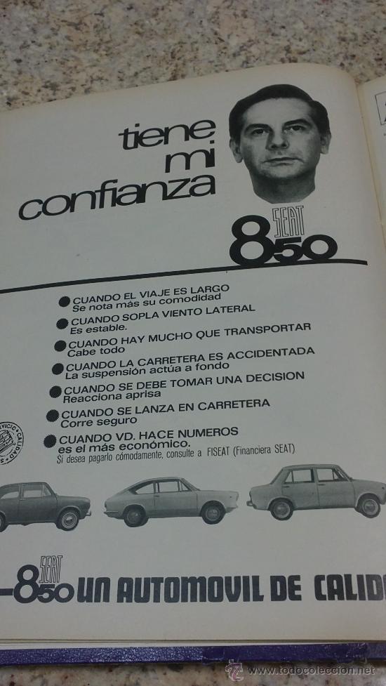 Coleccionismo de Revista Gaceta Ilustrada: MAGNIFICO,LOTE:Revista GACETA ILUSTRADA nº 600-AL-612-(7-4/30-6-1968)ENCUADERNADO-VER FOTOS- - Foto 2 - 33108827