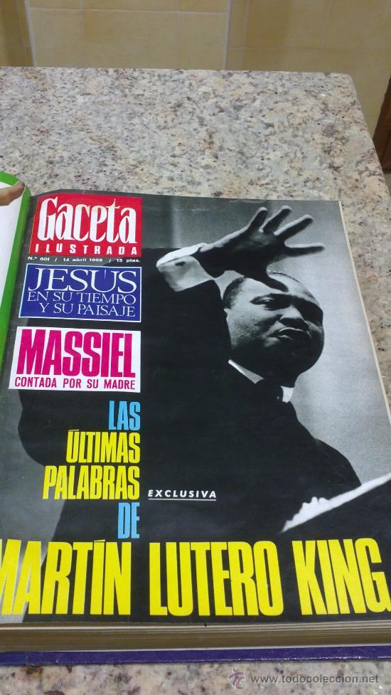 Coleccionismo de Revista Gaceta Ilustrada: MAGNIFICO,LOTE:Revista GACETA ILUSTRADA nº 600-AL-612-(7-4/30-6-1968)ENCUADERNADO-VER FOTOS- - Foto 3 - 33108827