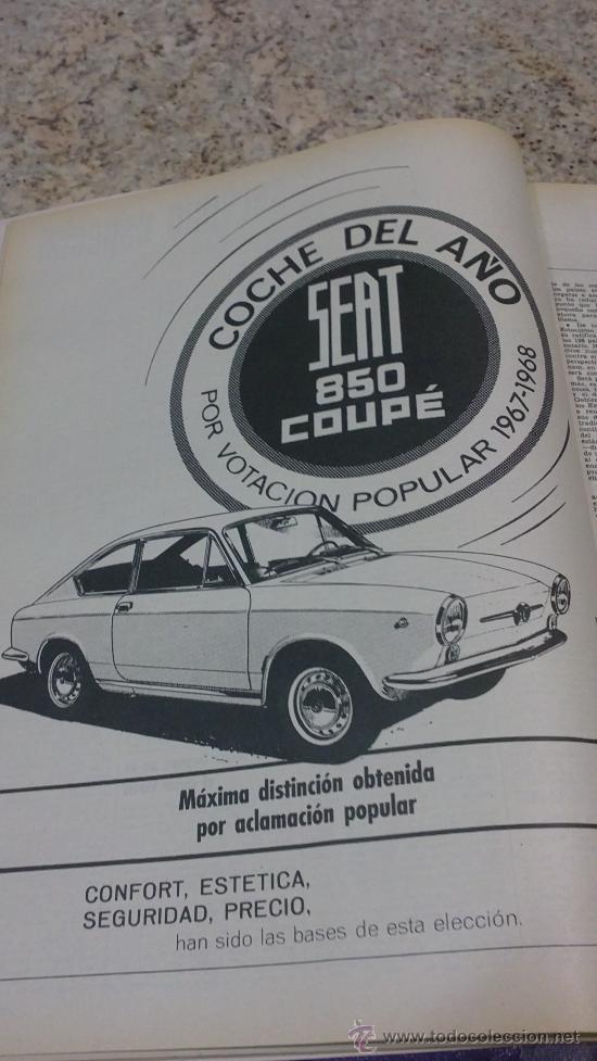 Coleccionismo de Revista Gaceta Ilustrada: MAGNIFICO,LOTE:Revista GACETA ILUSTRADA nº 600-AL-612-(7-4/30-6-1968)ENCUADERNADO-VER FOTOS- - Foto 4 - 33108827
