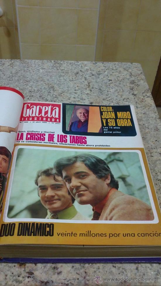 Coleccionismo de Revista Gaceta Ilustrada: MAGNIFICO,LOTE:Revista GACETA ILUSTRADA nº 600-AL-612-(7-4/30-6-1968)ENCUADERNADO-VER FOTOS- - Foto 7 - 33108827