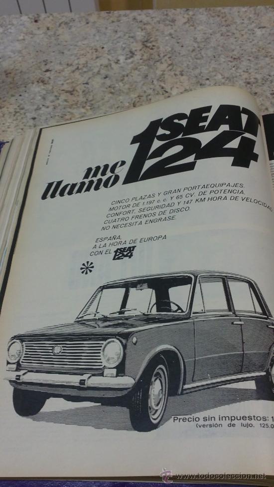Coleccionismo de Revista Gaceta Ilustrada: MAGNIFICO,LOTE:Revista GACETA ILUSTRADA nº 600-AL-612-(7-4/30-6-1968)ENCUADERNADO-VER FOTOS- - Foto 10 - 33108827