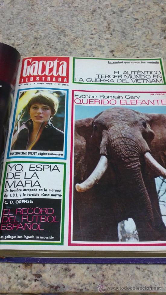 Coleccionismo de Revista Gaceta Ilustrada: MAGNIFICO,LOTE:Revista GACETA ILUSTRADA nº 600-AL-612-(7-4/30-6-1968)ENCUADERNADO-VER FOTOS- - Foto 11 - 33108827