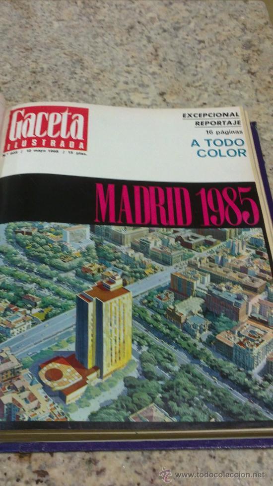 Coleccionismo de Revista Gaceta Ilustrada: MAGNIFICO,LOTE:Revista GACETA ILUSTRADA nº 600-AL-612-(7-4/30-6-1968)ENCUADERNADO-VER FOTOS- - Foto 12 - 33108827